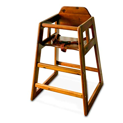 Winco CHH-104 Wooden High Chair (Walnut)