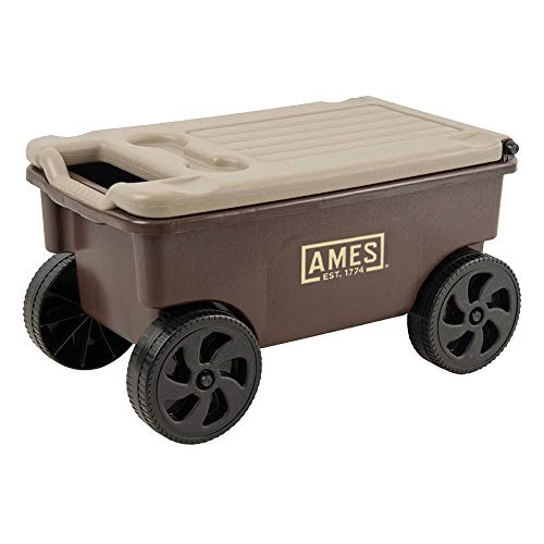 AMES 1123047100 Buddy Lawn and Garden Cart, Brown