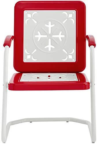 Crosley Furniture CO1026-RE Azalea Retro Metal Chairs (Set of 2), Red