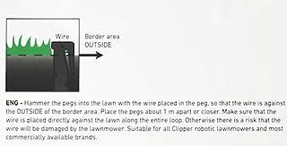 Clavos de anclaje para cortacésped robótico perímetro y guía de montaje y fijación a tierra (600)