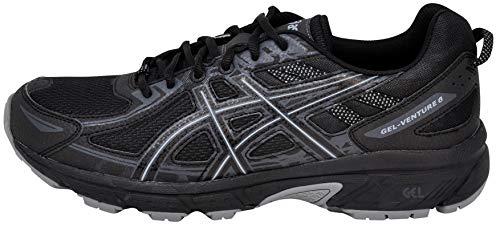 ASICS Men's Gel-Venture 6 Running Shoe, Black/Phantom/Mid Grey, 11.5...