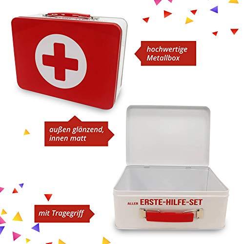 18. Geburtstag | Erste Hilfe Set Geschenk-Box, witziger Sanikasten | 8-teilig | Spaßgeschenk zum 18. Geburtstag - 6