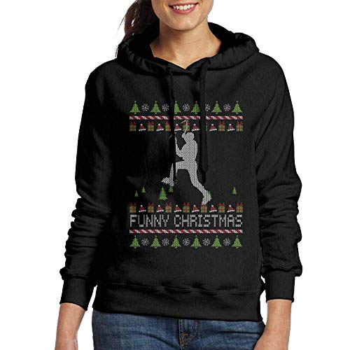 Ice Climber Funny Christmas Womens Fashion Adult Long Sleeve Hoody