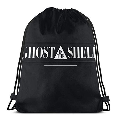 Mochila Cordónes Anime & G-Host In The Shell Funda Para Teléfono Taza Más 1 Bolsas De Cordones Portátil Bolsas De Cuerdas Ligero Bolsas Con Cordón De Gimnasio Lavable Cordón Bolsa Para Hombre Mujer