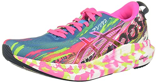 ASICS Women's Noosa Tri 13 Running Shoes, 9, Digital Aqua/HOT Pink