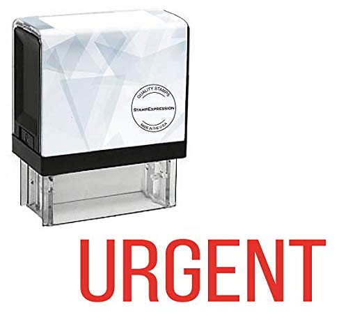 StampExpression - Urgent Office Self Inking Rubber Stamp - Red Ink (A-5075)
