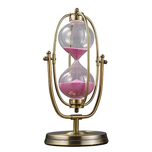 BGSFF Temporizador de Arena, Reloj de Arena Reloj de Arena Reloj de Arena Temporizador de Vidrio - Temporizador de Huevo Giratorio de Bronce de Metal Vintage de 30/60 Minutos, para el au
