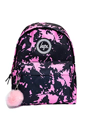 HYPE VINTAGE TIE DYE BACKPACK (Black/Pink, One Size)
