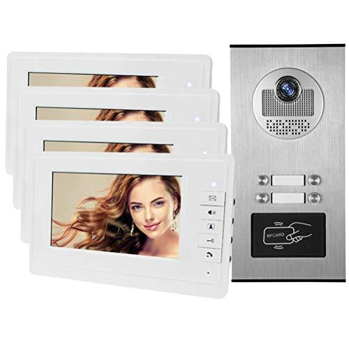 YSAYK Videoteléfono Cableado con Cámara De 7 Pulgadas, Videoportero Color RFID, con...