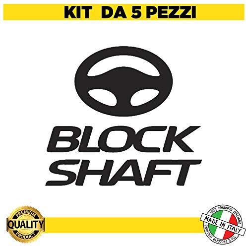 Kit de 5 pegatinas adhesivas para coche, moto, antirrobo, Block Shaft, Tuning, camión, caravana, gps localizador – Limpiador contra robos