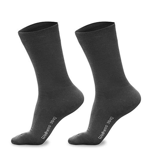 Piarini 3 Paar Herren-Socken Baumwolle Innenfrottee Sohle Bequeme Business-Socken atmungsaktive Edle Socken Männer Grau 39 40 41 42