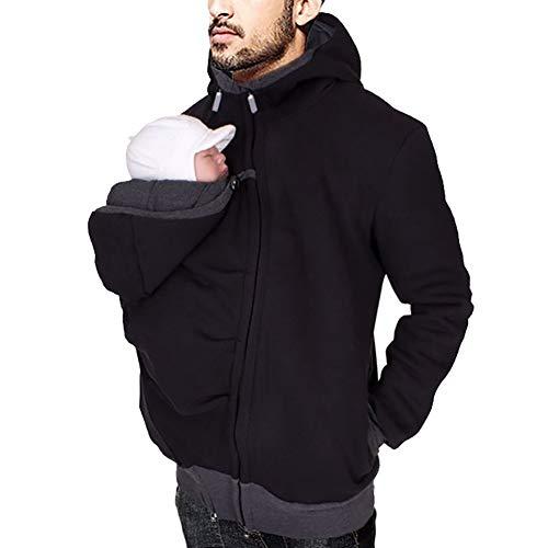 Haoyue Männer Känguru Papa Mantel Baby Taschen Sicherheit Bequemes T-Shirt Multifunktionsbekleidung(M-2XL) (Size : L)