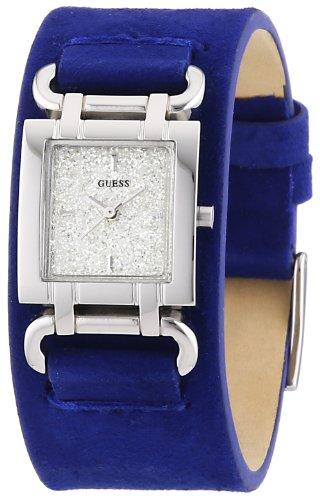 Guess Smoothy W0153L1 - Reloj analógico de Cuarzo para Mujer, Correa de Cuero Color Azul
