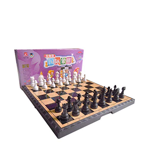 LBZJD Schach Trompete Klappbaren Tragbaren Geschenk Dame-Spiel Entwicklung Intelligenz Puzzle Campingtisch Spiel Kinder Kinder Aufklärung Studenten