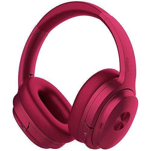 Cowin SE7 Active Noise Cancelling Bluetooth Kopfhörer Kabellos Kopfhörer Over Ear mit Mikrofon/Aptx, Bequeme Protein-Ohrpolster 50H Playtime, Faltbare Kopfhörer für Reisen/Arbeiten - (Violett)