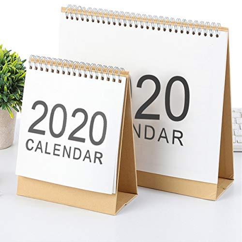 TOPWA 2019 Maandelijkse Small Desk Kalender Eenvoudige Tafel Top Desktop Standing Up Tent Kalenders, Oktober 2018 tot December 2019 7.3
