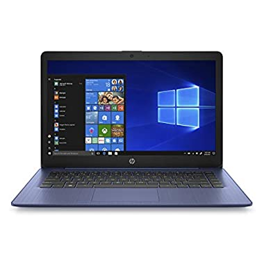 HP Stream 14-inch Laptop, Intel Celeron N4000, 4 GB RAM, 64 GB eMMC, Windows 10 Home in S Mode with Office 365 Personal…
