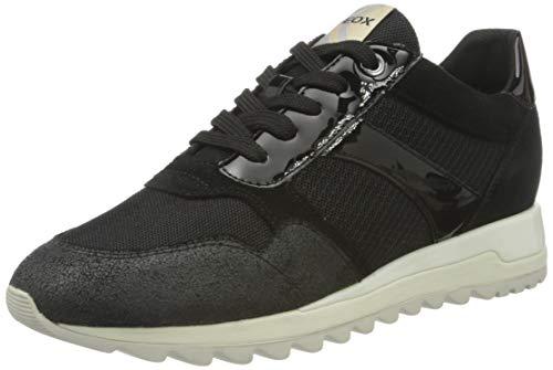 Geox D TABELYA A, Zapatillas Mujer, Negro Aqa02, 39 EU