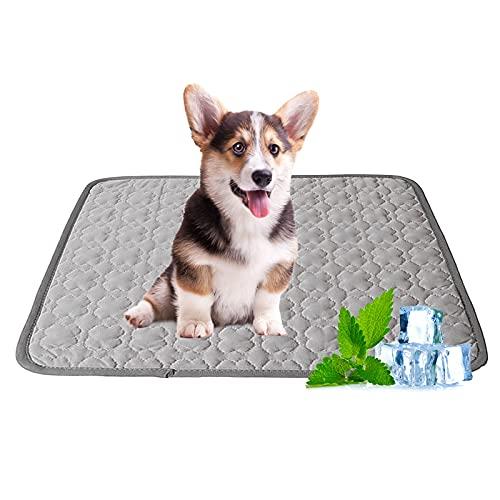 Bncxdc Alfombrilla de refrigeración para Perros, Almohadilla de refrigeración para Mascotas para Gatos, Accesorios de Verano para Mascotas Cama para Perros, Colchón de refrigeración