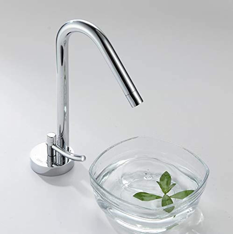 Oudan Fashion Style Chrome Waterfall Bathroom Basin Faucet Single Handle Waterfall Basin Side Faucet Xr99801A (color   -, Size   -)