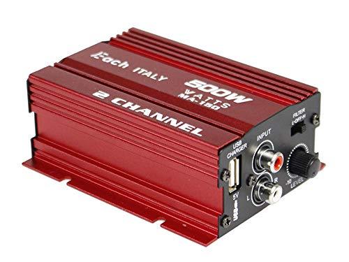 Vetrineinrete Amplificatore audio 12 volt usb casa auto barca con 2 canali per stereo lettore musicale 500 w ma-150 M48