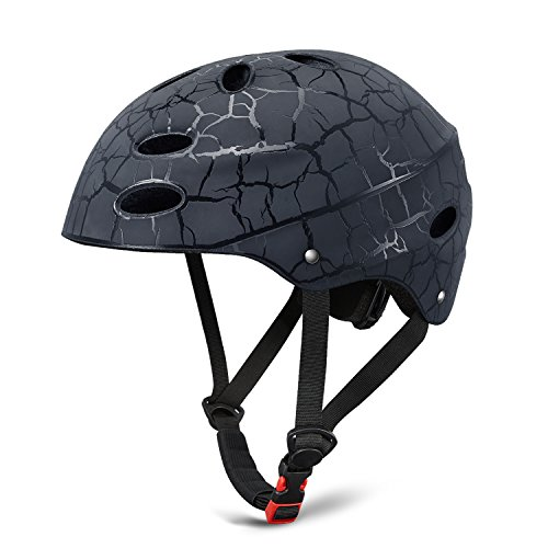 Kids Bike Helmet, Adjustable Skateboard Helmet for Safety Skate Helmet, Cycling/Skating/Scooter/Inline Skating for Youth/Teens Boys Girls Ages 5-14