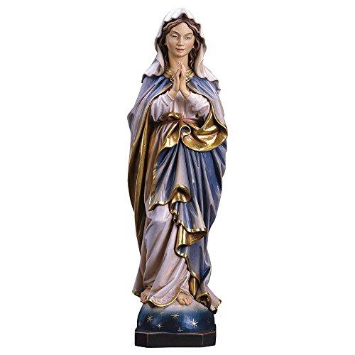 Marienstatue Immaculata, betend Holz, geschnitzt coloriert 25 cm