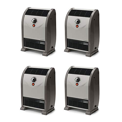 Lasko 1500W Portable Automatic Heat Regulator Floor Air Flow Heater (4 Pack)