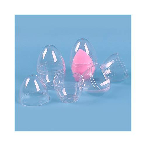 1pc Beauté éponge Support de stockage Makeup Case Blender Puff, cadre en forme d'oeuf cosmétique vide transparent Dry Box Puff