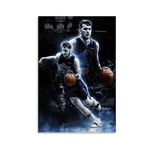 CHAOZHE Póster de mejor jugador de baloncesto deportivo Luka-Doncic-Dallas-Mavericks2, pintura decorativa, lienzo para pared, para sala de estar, dormitorio, 30 x 45 cm