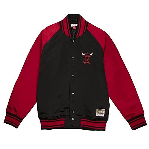 Mitchell & Ness Chicago Bulls Big Face Colossal - Chaqueta de satén, negro, small