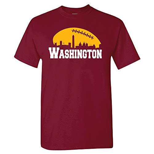 Xtreme Apparrel Washington Football Skyline Shirt (2XL) Burgundy