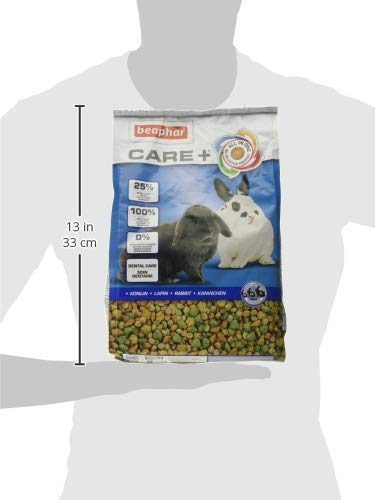 beaphar Care+ Kaninchen | Kaninchenfutter mit Alfalfa aus Bergwiesen | Fördert den gesunden Zahnabrieb | Niedriger Fettgehalt | 5 kg Beutel - 5