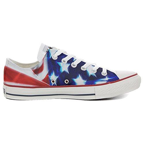 Original Sneakers Personalizadas (Producto Hecho a Mano) Zapatos Personalizados (Producto Handmade) Slim Bandera USA - TG38