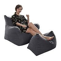 ビーズクッション 特大 座椅子 座布団 豆袋 なまけ者ソファー 軽量 取り外し可能 洗える 腰痛 低反発