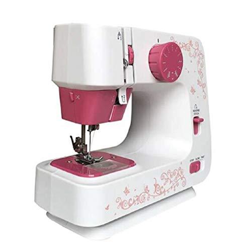 Naaimachine Volautomatische miniatuur naaimachine, Huishoudelijk gereedschap voor stof, Kleding, Home Travel Naaihulpmiddel Draagbaar naaien Snelle naaimachine (30 * 15 * 32cm)