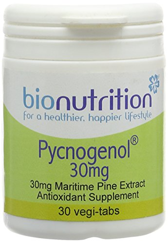 Bio Nutrition Pycnogenol 30mg - Antioxidant Immune and Skin Health Nutrient - 30 vegi-tabs