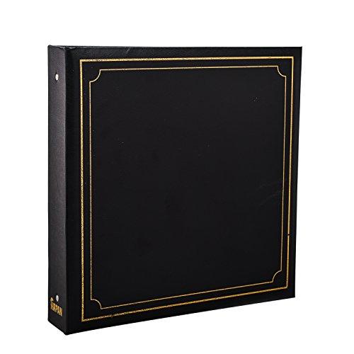 ARPAN Grand Album pour 500 Photos 15,2 x 10,2 cm Couverture rembourrée dorée Noir 34 x 4 x 33 cm