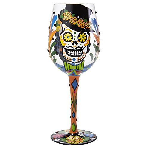 Lolita Sugar Skulls Wine Glass