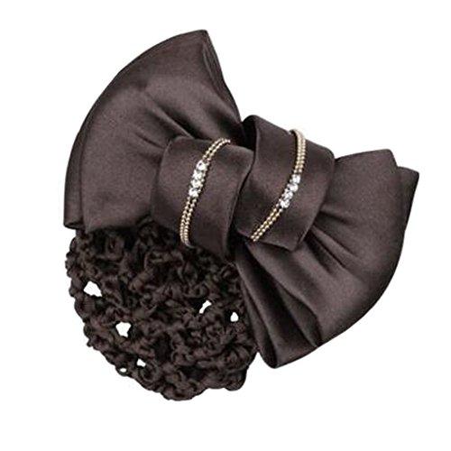 Filles Snood net Clip de cheveux Couvercle de coque Bow Barrette professionnel Coiffure, D