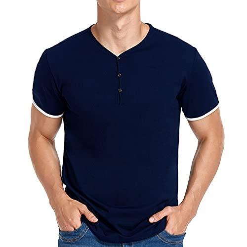 SSBZYES Verano Hombres Prioridad Camisetas con Cuello En V para Hombres Polos para Hombres Camisetas Informales De Verano para Hombres
