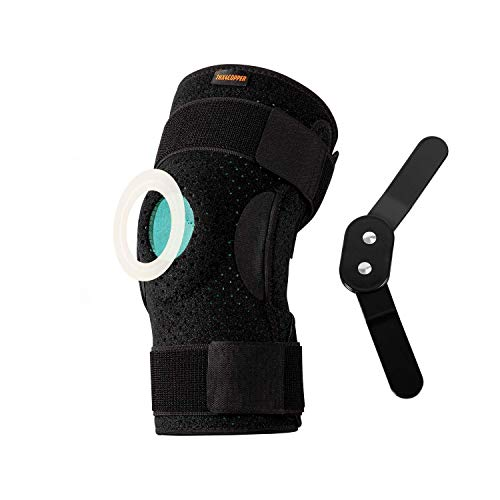 Thx4COPPER Hinged Knee Brace-Adjustable Open Patella with Parallel Straps & Dual Side Stabilizers-Compression Support for Knee Pain Relief & Recovery-MCL, ACL, LCL,Tendonitis, Ligament for Men & Women