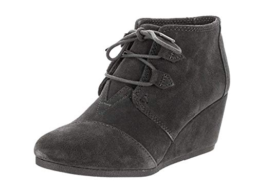 TOMS Forged Iron Grey Suede Women Kala Bootie 10012957 (Size: 6.5)
