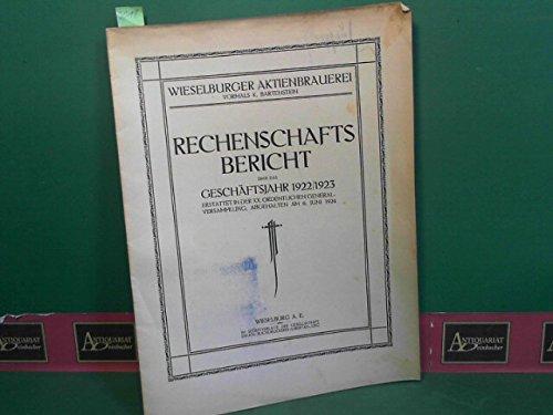 Rechenschaftsbericht über das Geschäftsjahr 1922/23. Erstattet in der XX. ordentlichen Generalversammlung, abgehalten am 6.Juni 1924.