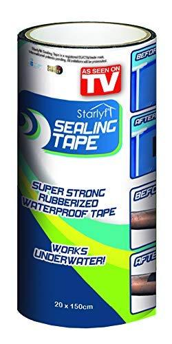 BEST DIRECT Sealing Tape Visto en TV Cinta adhesiva Selladora Multiusos Impermeable Sellar Agujeros, Tuberías, Fugas de Aire, y Agua en el Hogar - MEDIDA Super Jumbo 20x150