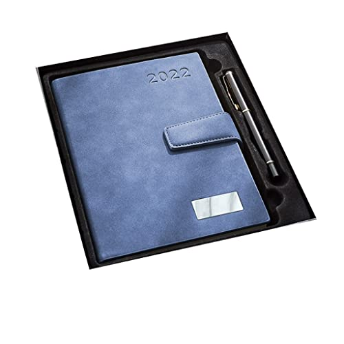 2022 Diary, Diary from Jan.2022 to Dec. 2022, Week to View Diary, Weekly Planner with Cover,8.3″x5.7″,Premium Thicker Paper (Color : Blue)