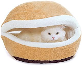 goldblue Hamburger Design Washable Pet Bed Soft Dog House Cotton Cat Sleeping Bag (Basic Sets, L)