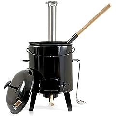 BBQ-Toro Goulash Kanon | Goulash-ketel | Stoofoven | Hongaarse boiler goulash pot 17 liter geëmailleerd met deksel voor de outdoor keuken veld keuken *