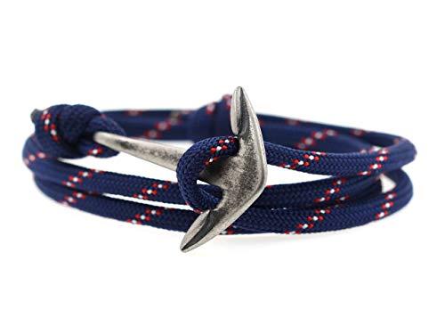 KOMIMAR Anker Armband Herren MARIN ANTIQUE - Schmuck - Mritim Armband - Surferarmband - Edelstahl Anker - Massiv - Herren Armband - Damen Armband - Wickelarmband