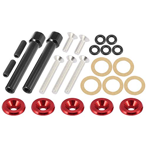 X AUTOHAUX Low Profile Engine Valve Cover Washer Bolt Kit Red for Acura for Honda D-Series Engines D15 D16